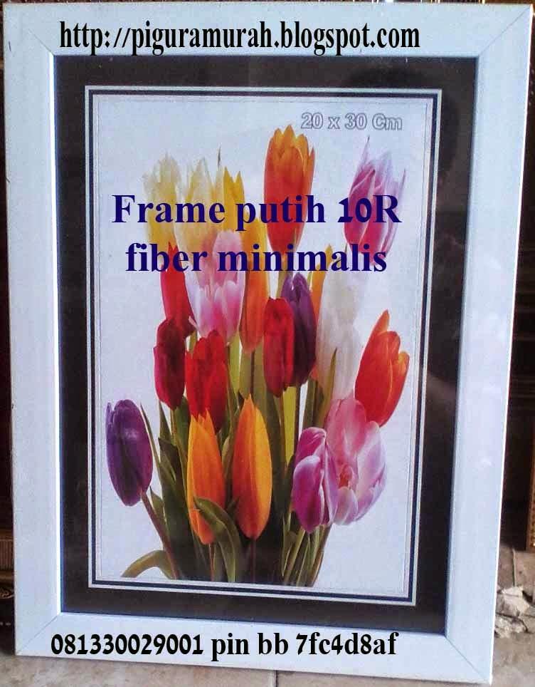 Frame pigora fiber putih minimalis 10R