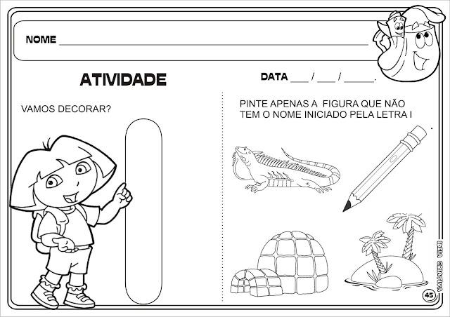Atividade Letra I Dora Aventureira