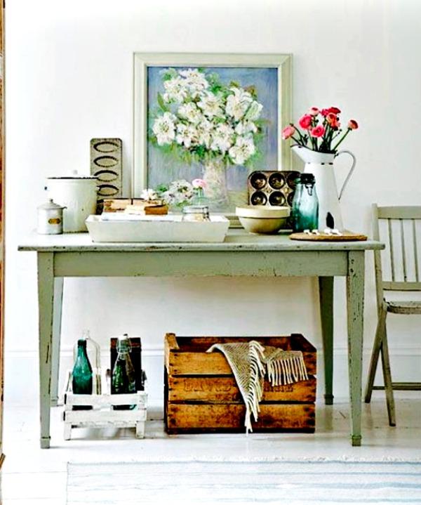 Mesa tocinera en la decoraci n vintage de tu hogar for Mesa apoyo cocina