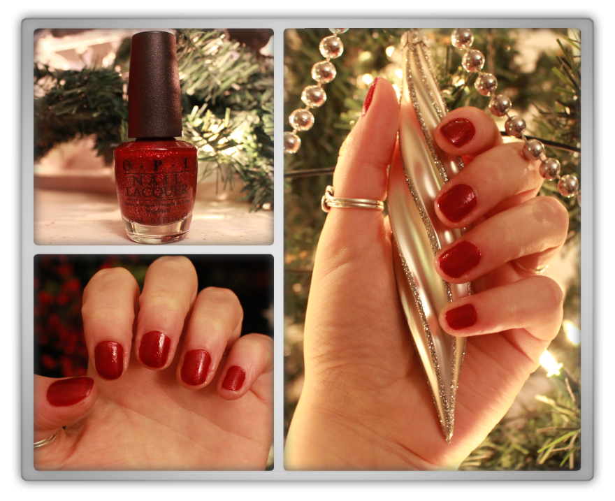 marjolein Kucmer christmas nails nail art red xmas 25th december underneath the mistletoe opi o.p.i. swatch review haul preview 3
