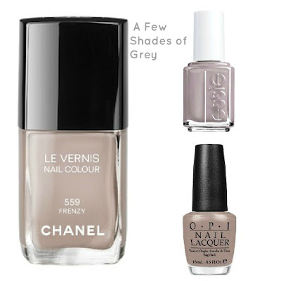 Nails of the week- a shade of grey ( sorry, couldn't resist)