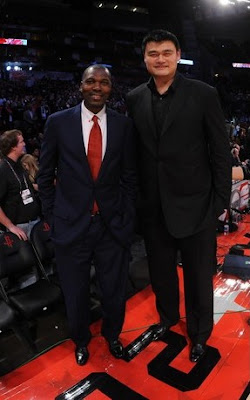 Yao and Hakeem all star game