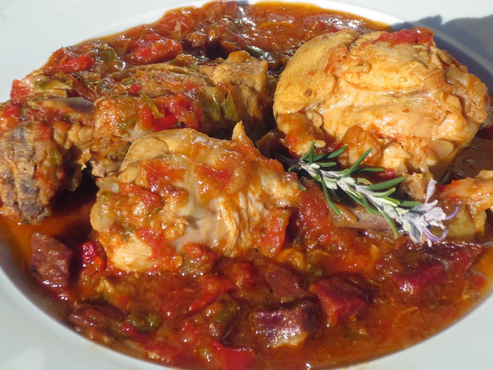 Cocinar Pollo Al Chilindron | Pollo Al Chilindron Olla Gm