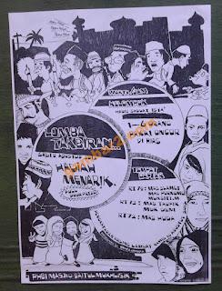 contoh poster gambar manual