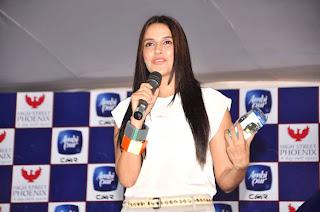 Actress Neha Dhupia promotes Ambi Pur
