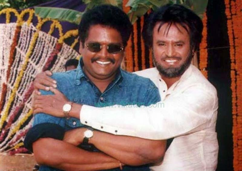 DIRECTOR K.S. RAVI KUMAR WITH RAJINIKANTH IN 'PADAYAPPA' MOVIE