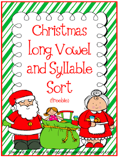 https://www.teacherspayteachers.com/Product/Chistmas-Long-Vowel-Word-and-Syllable-Sort-Activity-1587601