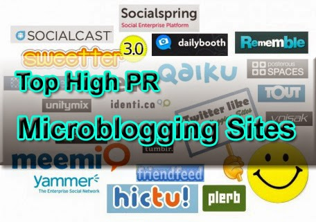 Top High PR Microblogging Sites To Share Blog Posts
