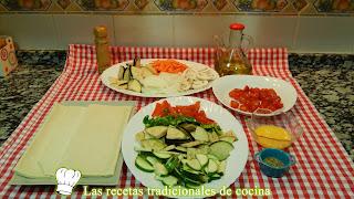 Receta de hojaldre de verduras