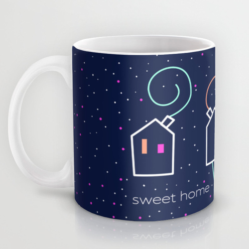 "Taza Mug Kinm Bernal ""Sweet home under the stars"""