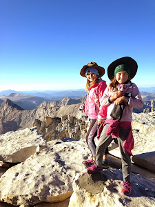 Alex and Sage on Mt. Whitney.  Aug. 27, 2014