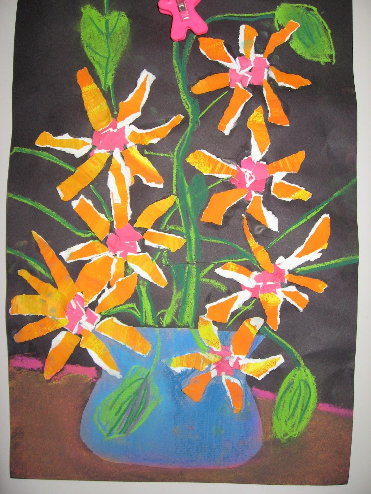 2nd Grade Van Gogh Sunflowers