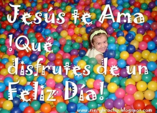 Postal Feliz Día Niña Linda. imágenes Feliz Día del niño / niña. Feliz cumpleaños princesa. Jesus te ama.  Tarjeta linda con mensaje cristiano para felicitar hija, sobrina, amiga. Postales cristianas.