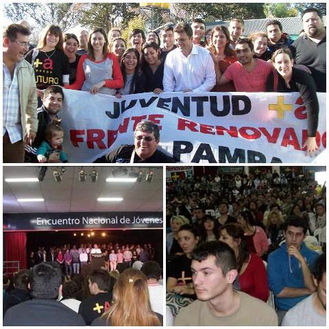 Militantes de Pueblo Nuevo con Sergio Massa en Encuentro Nacional de Jóvenes en Córdoba