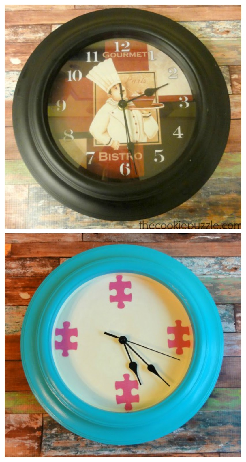 The Cookie Puzzle From Drab To Fab Wall Clock Transformation