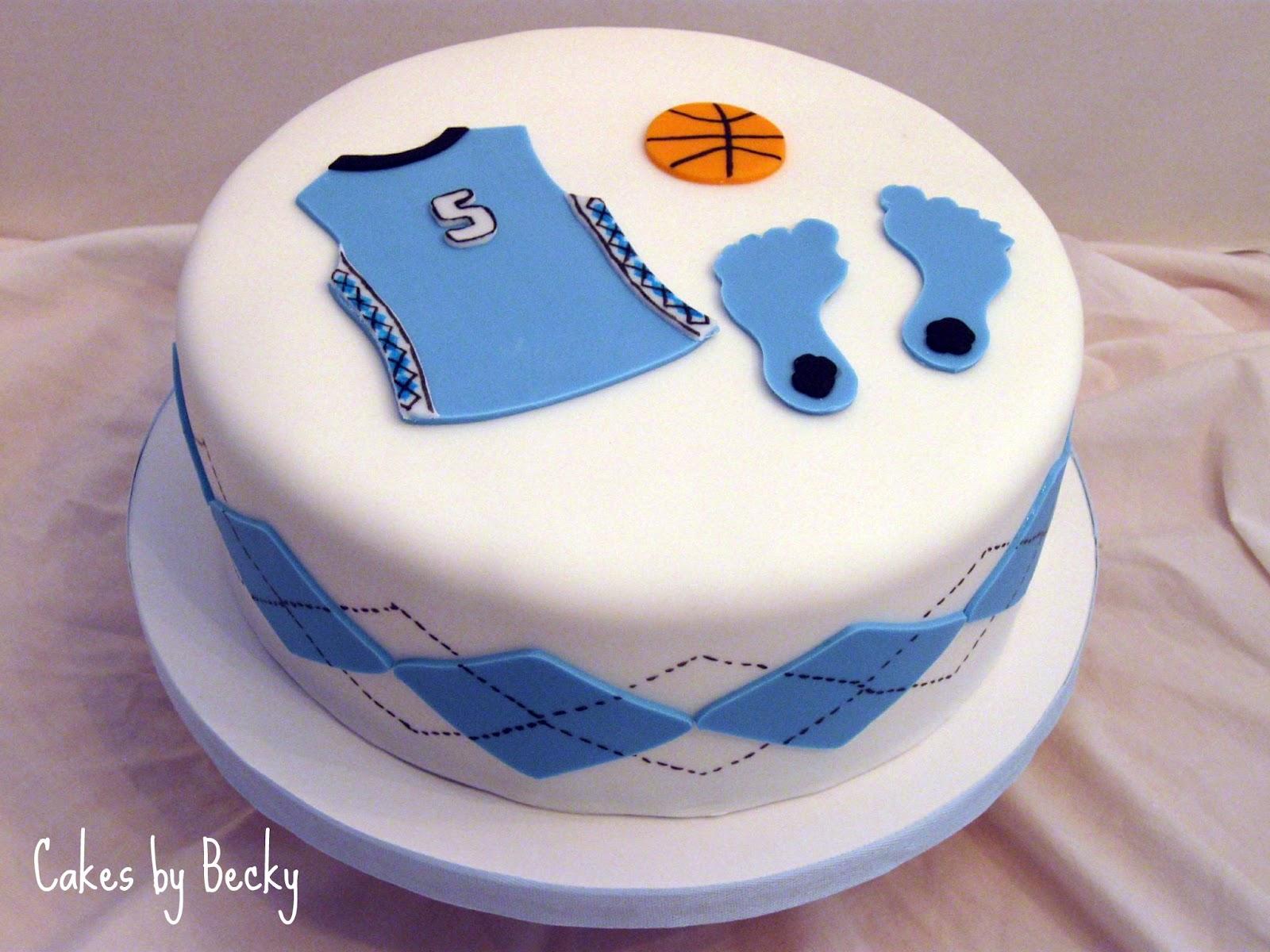 Cakes by Becky Carolina Tarheels Basketball Birthday Cake