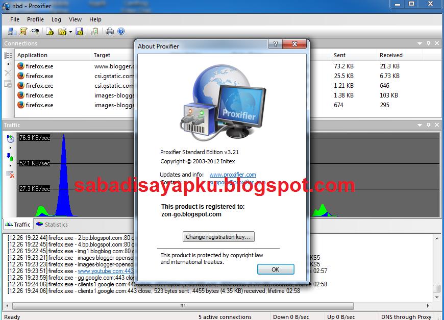 Cara Setting Proxifier Untuk SSH