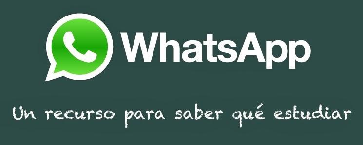 WahtsApp, un recurso para saber qué estudiar