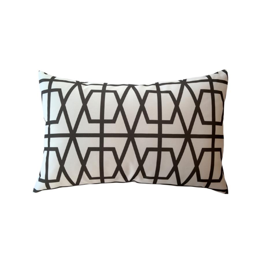 Via San Vito V Logo Fretwork Lumbar Pillow
