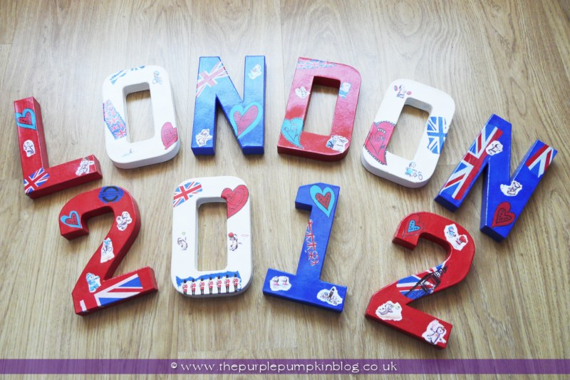 london 2012 olympics decoupage craft at the purple pumpkin blog