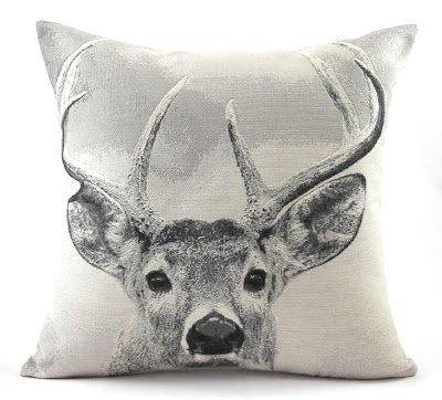 deer/stag head pillow