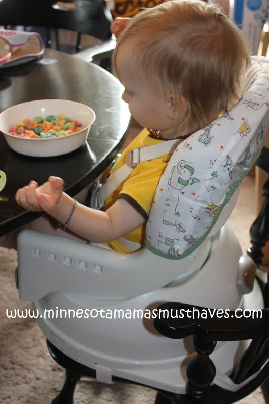 The miSwivel easily attaches to the chair. Our chairs are an odd shape and I had no problem attaching the miSwivel to them. I love the recline and swivel ... & Baby Shower Event! The First Years miSwivel High Chair Review ...