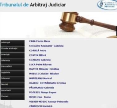 Lista arbitri judiciari - Tribunalul de Arbitraj Judiciar Iasi