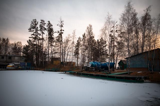 winter marina in siberia