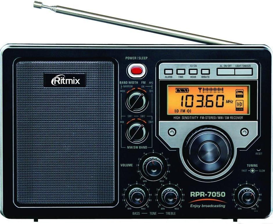 Обзор переносного аналогового радиоприемника Ritmix RPR-7050 мощный переносной цифровой радиоприемник с прекрасным качеством приёма сигнала