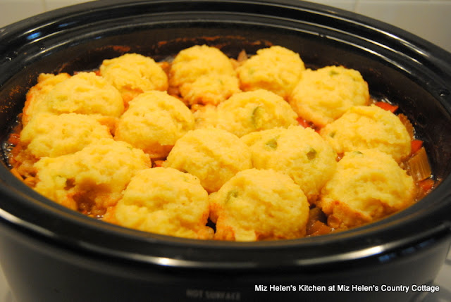 Slow Cooker Pinto Bean Stew with Corn Bread Dumplings at Miz Helen's Country Cottage