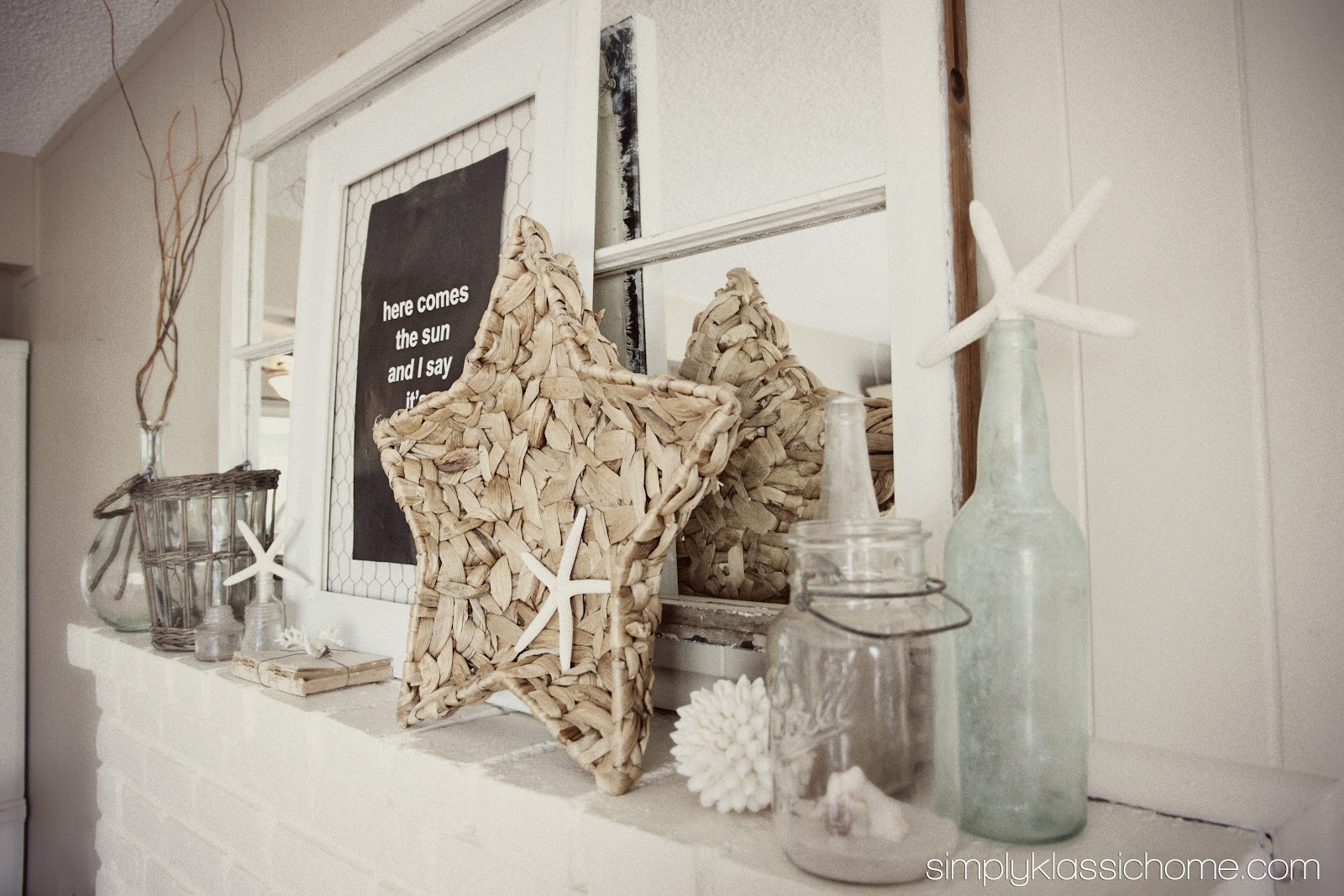 Summer Mantel, Rustic Coastal Style - Yellow Bliss Road