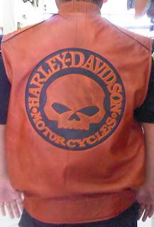 Rompi Kulit Harley Davidson