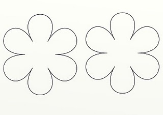 It is a graphic of Mesmerizing Felt Flower Template Printable