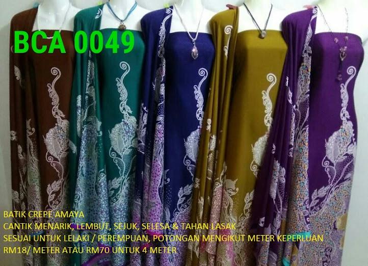 BCA 0049: BATIK CREPE AMAYA, OPEN METER, RM18/MTR