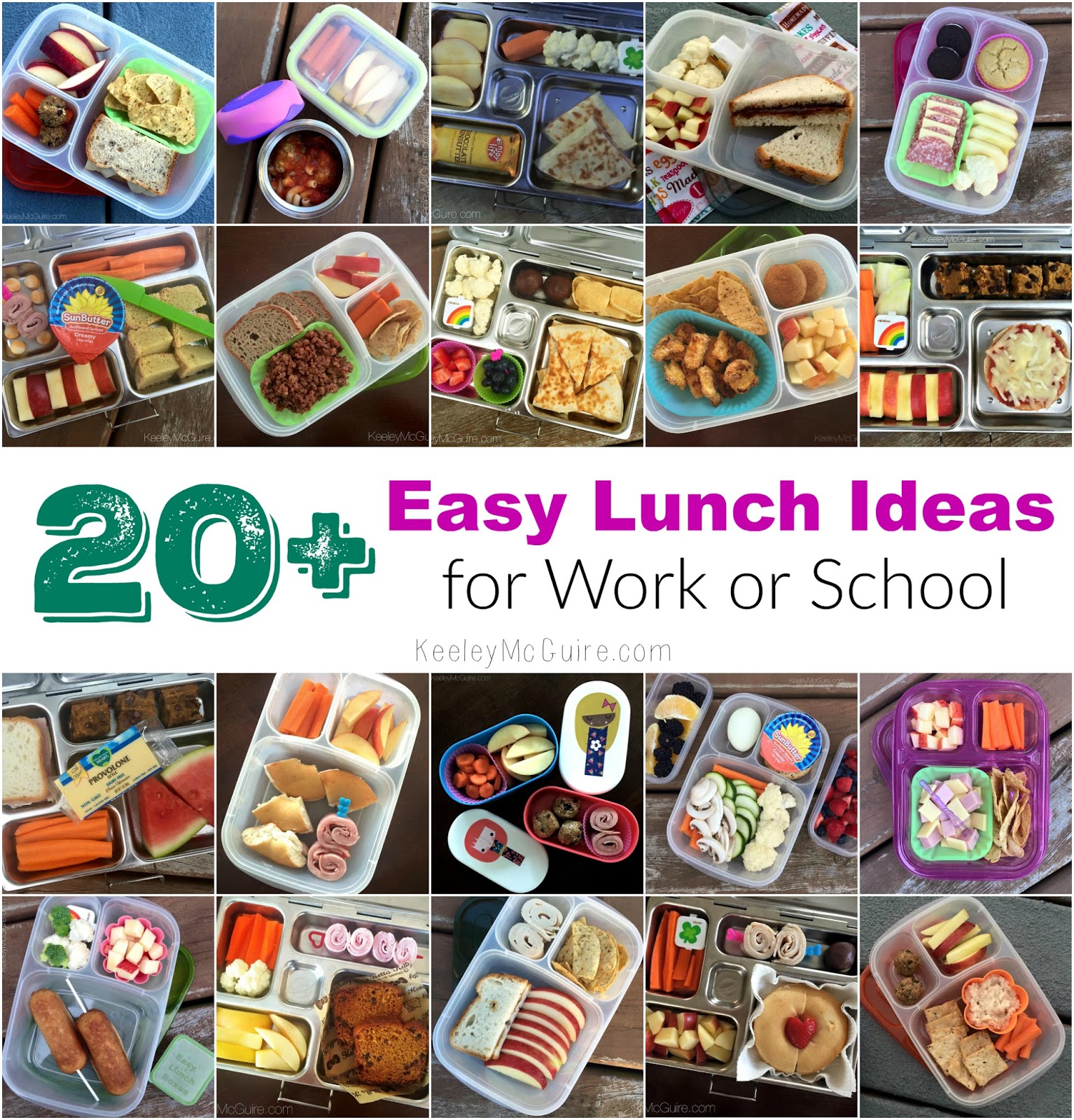 20 Easy Lunch Ideas For Work Or School