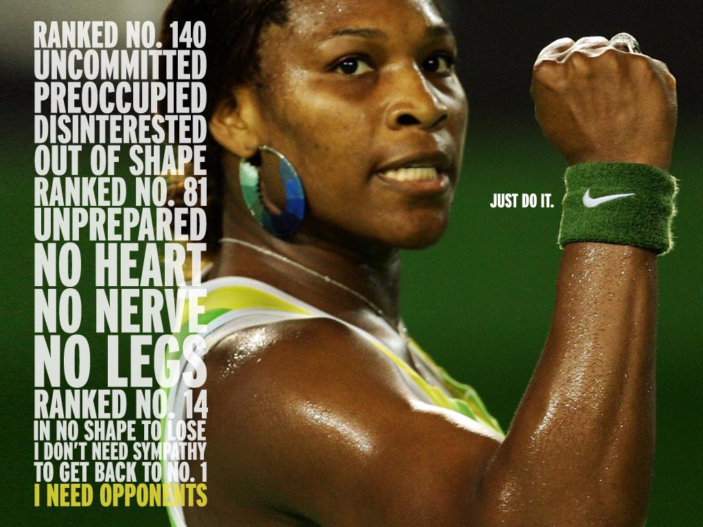 Serena Williams Serve Pose