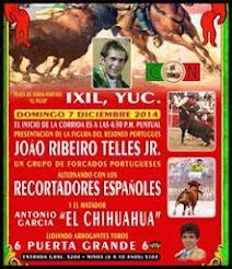 El Chihuahua mano a mano con Joao Ribeiro Télles Jr., en Ixil, Yucatán, el 7/12.