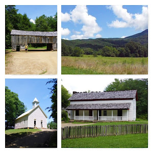 Some of the historical buildings of Cades Cove
