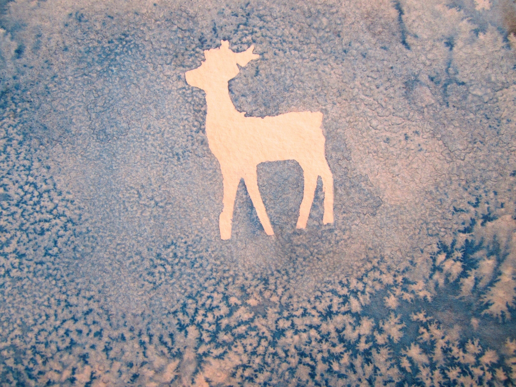Art And Soul Preschool Winter Deer Card