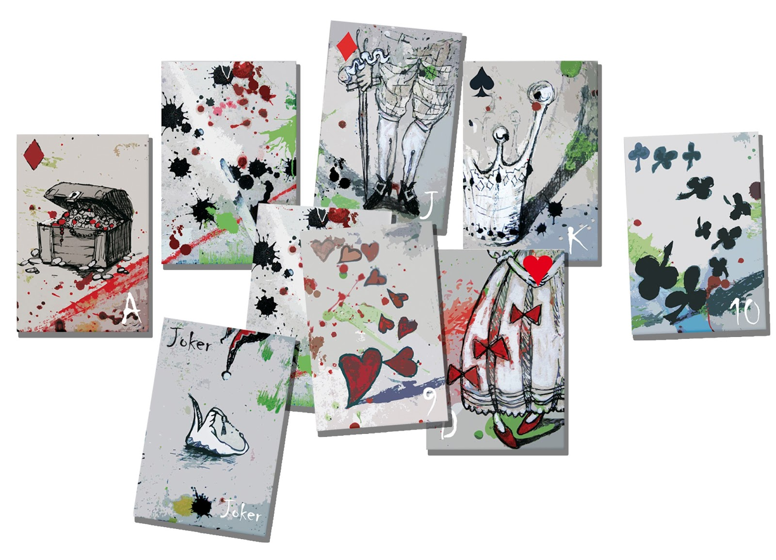 projekt kart do gry Katarzyna Urbaniak grafika rysunek ilustracja playing cards creative projects draw sketches illustration