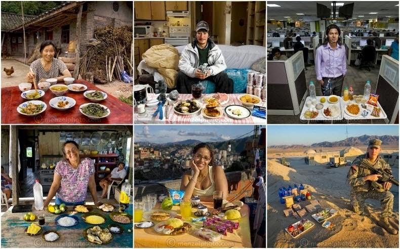 comidas alrededor del mundo