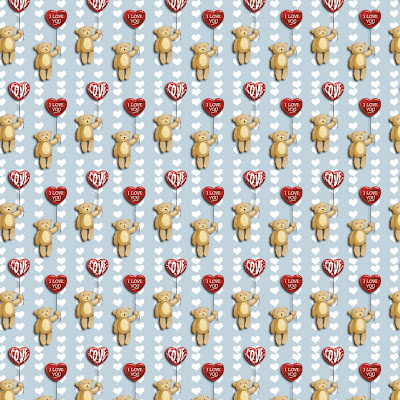 Valentines day, little bears download free wallpapers for Apple iPad