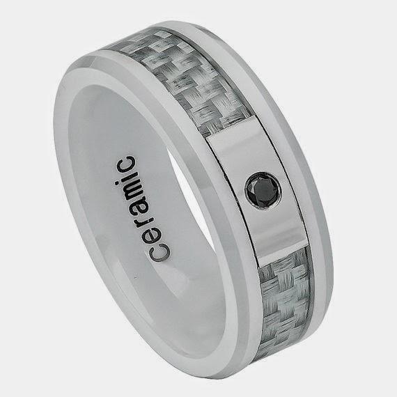 Tempting Jewels Mens Ceramic Wedding Bands