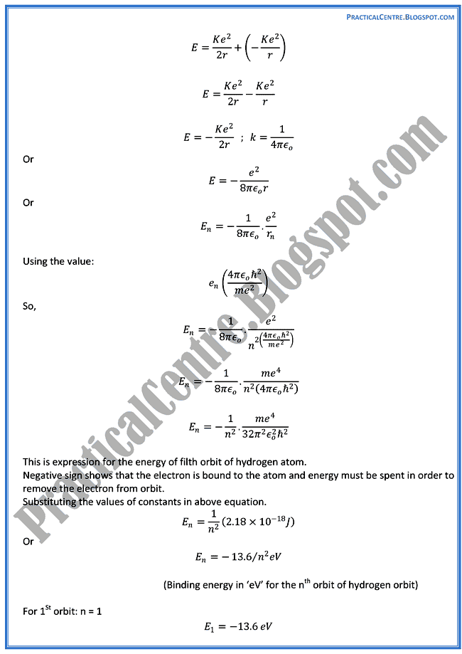 the-atomic-spectra-Theory-Notes-Physics-12th
