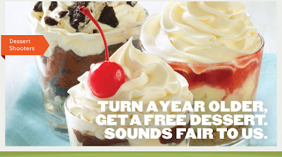 applebees birthday freebie dessert shooter coupon
