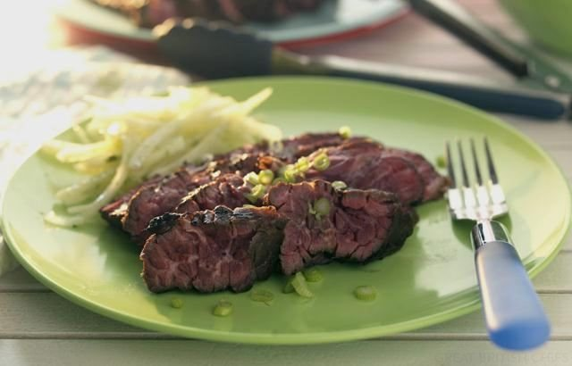 Lime-marinated flank steak - The Witch in the Kitchen