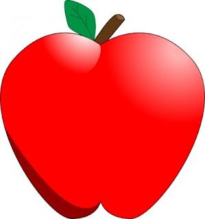 Gambar Kartun Buah Apel Merah