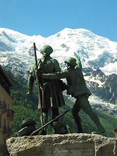 De Saussure Balmat statue