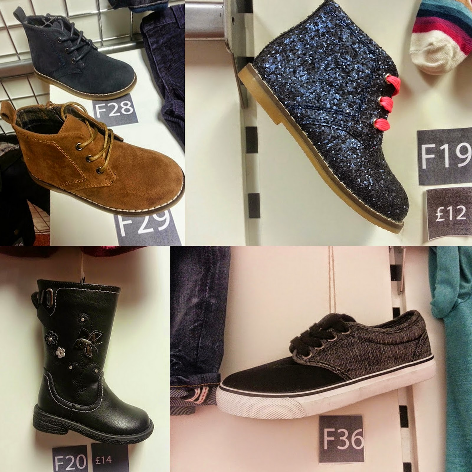 Matalan UK Autumn Winter 2014 younger children's shoes range