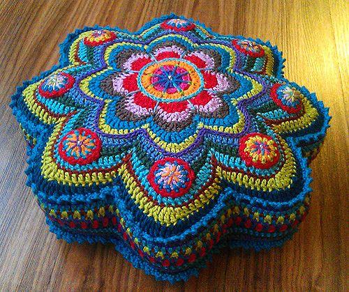 mar a cielo almohadones crochet. Black Bedroom Furniture Sets. Home Design Ideas